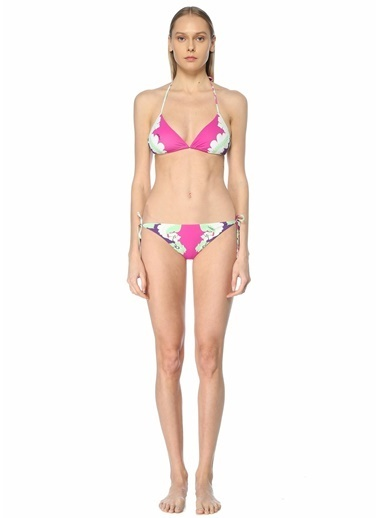 Valentino Valentino Çiçekli Üçgen Bikini Takımı 101619578 Pembe